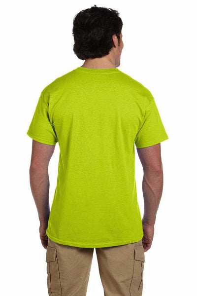 Gildan G200 Mens Cotton Short Sleeve Crewneck T-Shirt Safety Green Back