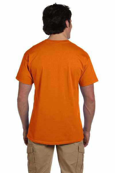 Gildan G200 Mens Cotton Short Sleeve Crewneck T-Shirt Safety Orange Back