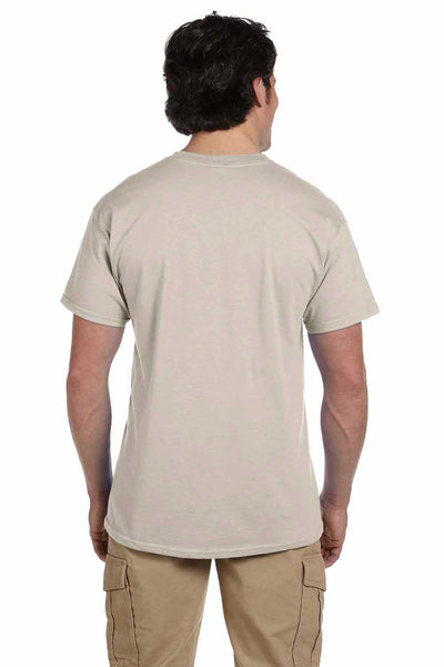 Gildan G200 Mens Cotton Short Sleeve Crewneck T-Shirt Sand Brown Back