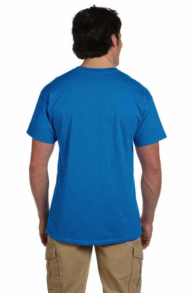 Gildan G200 Mens Cotton Short Sleeve Crewneck T-Shirt Sapphire Blue Back