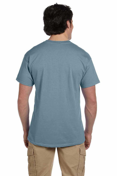 Gildan G200 Mens Cotton Short Sleeve Crewneck T-Shirt Stone Blue Back