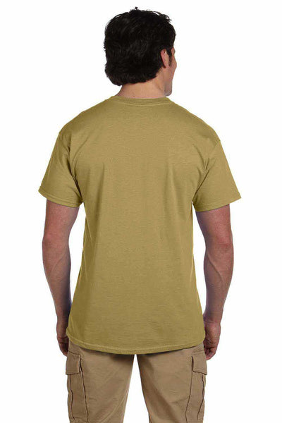 Gildan G200 Mens Cotton Short Sleeve Crewneck T-Shirt Tan Brown Back