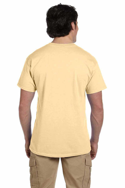 Gildan G200 Mens Cotton Short Sleeve Crewneck T-Shirt Vegas Gold Back
