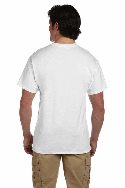 Gildan G200 Mens Cotton Short Sleeve Crewneck T-Shirt White Back