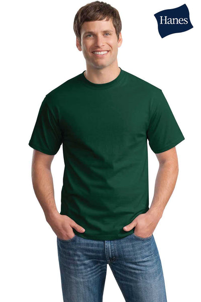 Hanes 5250T Mens ComfortSoft Short Sleeve Crewneck T-Shirt Forest Green Front
