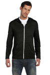 Alternative AA1970 Mens Eco Jersey Full Zip Hooded Sweatshirt Hoodie Black Front