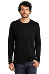Alternative AA5100 Mens The Keeper Vintage Long Sleeve Crewneck T-Shirt Black Front
