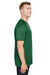 Augusta Sportswear AG1565 Mens Attain 2 Button Short Sleeve Baseball Jersey Dark Green Side