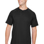 Augusta Sportswear Mens Black Attain 2 Button Short Sleeve Baseball Jersey