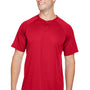 Augusta Sportswear Mens Red Attain 2 Button Short Sleeve Baseball Jersey