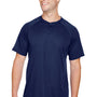 Augusta Sportswear Mens Navy Blue Attain 2 Button Short Sleeve Baseball Jersey