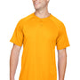 Augusta Sportswear Mens Gold Attain 2 Button Short Sleeve Baseball Jersey