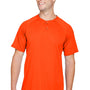 Augusta Sportswear Mens Orange Attain 2 Button Short Sleeve Baseball Jersey