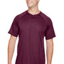 Augusta Sportswear Mens Maroon Attain 2 Button Short Sleeve Baseball Jersey