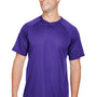 Augusta Sportswear Mens Purple Attain 2 Button Short Sleeve Baseball Jersey