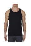 Alstyle AL1307 Mens Tank Top Black Front