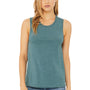 Bella + Canvas Womens Jersey Muscle Tank Top - Heather Deep Teal Blue