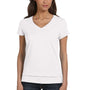 Bella + Canvas Womens Jersey Short Sleeve V-Neck T-Shirt - White