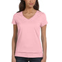 Bella + Canvas Womens Jersey Short Sleeve V-Neck T-Shirt - Pink