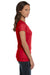 Bella + Canvas B6005 Womens Jersey Short Sleeve V-Neck T-Shirt Red Side