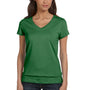 Bella + Canvas Womens Jersey Short Sleeve V-Neck T-Shirt - Leaf Green