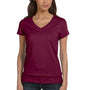 Bella + Canvas Womens Jersey Short Sleeve V-Neck T-Shirt - Maroon