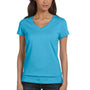 Bella + Canvas Womens Jersey Short Sleeve V-Neck T-Shirt - Ocean Blue
