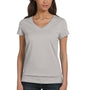 Bella + Canvas Womens Jersey Short Sleeve V-Neck T-Shirt - Heather Grey