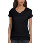 Bella + Canvas Womens Jersey Short Sleeve V-Neck T-Shirt - Black