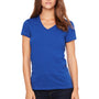 Bella + Canvas Womens Jersey Short Sleeve V-Neck T-Shirt - True Royal Blue