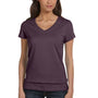Bella + Canvas Womens Jersey Short Sleeve V-Neck T-Shirt - Plum Purple