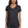 Bella + Canvas Womens Jersey Short Sleeve V-Neck T-Shirt - Heather Dark Grey