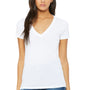 Bella + Canvas Womens Jersey Short Sleeve Deep V-Neck T-Shirt - White