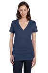 Bella + Canvas B6035 Womens Jersey Short Sleeve Deep V-Neck T-Shirt Royal Blue Front