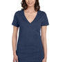Bella + Canvas Womens Jersey Short Sleeve Deep V-Neck T-Shirt - True Royal Blue