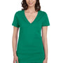 Bella + Canvas Womens Jersey Short Sleeve Deep V-Neck T-Shirt - Kelly Green