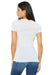 Bella + Canvas B6035 Womens Jersey Short Sleeve Deep V-Neck T-Shirt White Marble Back