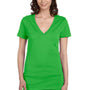 Bella + Canvas Womens Jersey Short Sleeve Deep V-Neck T-Shirt - Neon Green