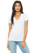 Bella + Canvas B6035 Womens Jersey Short Sleeve Deep V-Neck T-Shirt Ash Grey Front