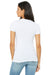 Bella + Canvas B6035 Womens Jersey Short Sleeve Deep V-Neck T-Shirt Ash Grey Back