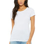 Bella + Canvas Womens Short Sleeve Crewneck T-Shirt - White Fleck
