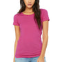Bella + Canvas Womens Short Sleeve Crewneck T-Shirt - Berry Pink