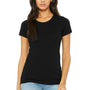 Bella + Canvas Womens Short Sleeve Crewneck T-Shirt - Solid Black