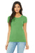 Bella + Canvas B8413 Womens Short Sleeve Crewneck T-Shirt Green Front