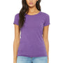 Bella + Canvas Womens Short Sleeve Crewneck T-Shirt - Purple