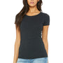 Bella + Canvas Womens Short Sleeve Crewneck T-Shirt - Charcoal Black