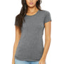Bella + Canvas Womens Short Sleeve Crewneck T-Shirt - Grey
