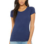Bella + Canvas Womens Short Sleeve Crewneck T-Shirt - Navy Blue