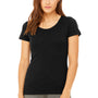 Bella + Canvas Womens Short Sleeve Crewneck T-Shirt - Heather Black