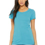 Bella + Canvas Womens Short Sleeve Crewneck T-Shirt - Aqua Blue